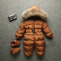 2017 Winter Baby Romper Onesie Coat Infant Children Snowsuit Outerwear Newborn Girl Boys Jumpsuit Snow Wear