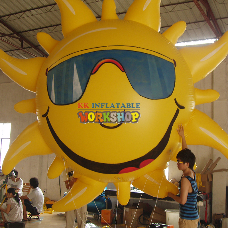 flying outdoor Inflatable sun balloon Advertisingflying outdoor Inflatable sun balloon Advertising