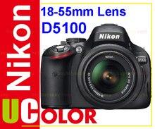ต้นฉบับใหม่Nikon D5100 16.2 MPกล้องดิจิตอลSLR Body & AF-S 18-55มิลลิเมตรVRเลนส์ชุดสีดำ