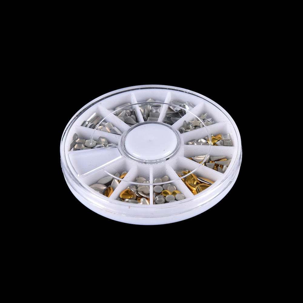 240 Stücke/Rad 3D Acryl Nagel kunst Spitzt Gems Kristallrhinestones ...