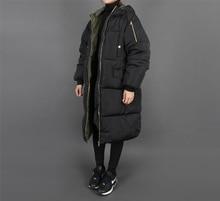 vancol plus size black female padded jacket hooded Oversize cotton down jackets bayan kaban extra long women parka winter coat