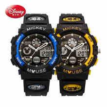 100% disney mens militar reloj de los hombres del deporte de los niños niños relojes de pulsera marca de lujo led digital multifunción impermeable al aire libre
