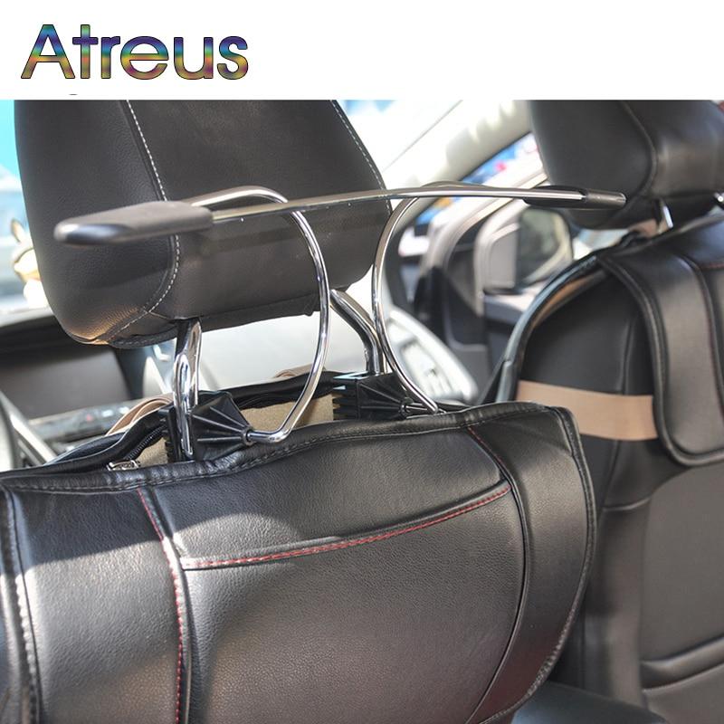 Atreus 1Pcs Car hanger metal stainless steel headrest hanger for Nissan Juke X-trail Qashqai Opel Astra J H G Insignia Kia RIO