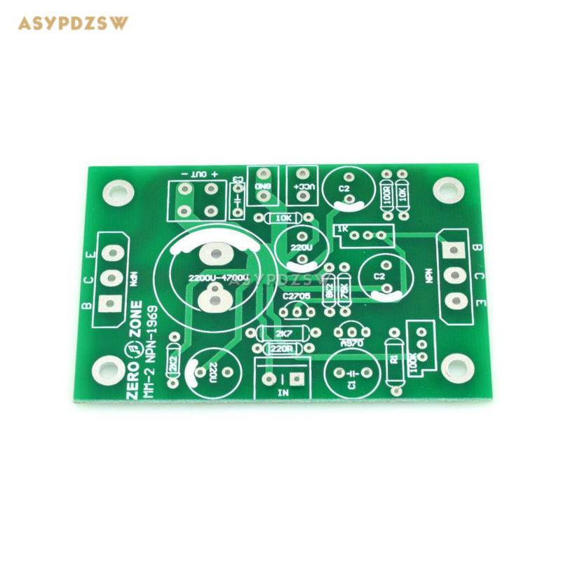 2PCS Atom BR Version NPN JLH1969 Single-ended Class A power amplifier bare PCB (2-channel)