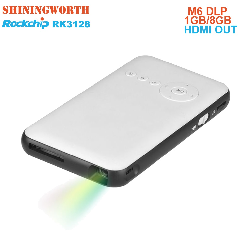 c84d2ea6840e82 Pocket 8G HD Mini projector Android 7.1 TV Box HDMI Output Airplay  Bluetooth AC3 smart led portable beamer DLP for home theater