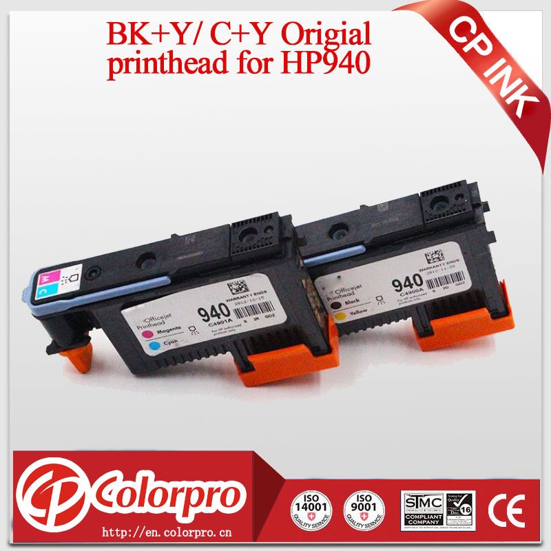2pcs / Set Original Printer Head עבור HP940 עבור HP OfficeJet Pro 8000 8500 Printer עבור ראש הדפסה HP 940 עבור HP Officejet Pro 8500A