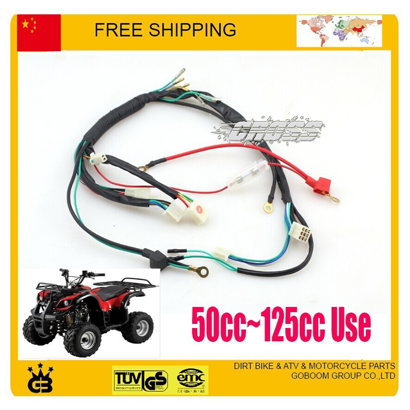us $28 49 5% off 49cc 50cc 70cc 110cc 125cc atv quad parts electric cable assy electronic wire atv quad accessories free shipping in motorbike Wiring for Lawn Tractor