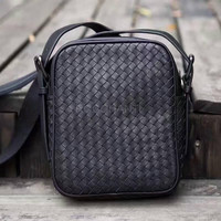 Luxury Genuine Leather Handbag Pure Handmade Weaving Casual Cross Body Hand Bag Briefcase Messenger Business Work