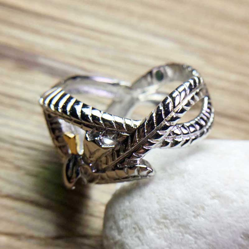 Image 4 - The Lord of Rings 925 Sterling Silver Aragorn ring of Barahir LOTR wedding ring fashion men jewelry fan gift high quality-in Rings from Jewelry & Accessories
