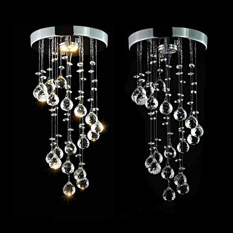 LED Crystal Chandelier Lights le'd Lamp For Living Room Cristal Lustre Chandeliers Lighting Pendant Hanging Ceiling Fixtures