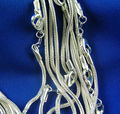 Free Shipping Wholesale 5pcs Silver 1.2mm Smooth Snake Chain Necklace (DIY Pendant)16 INCH-30INCH  TY001-TY008