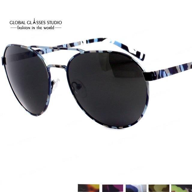 c0e6bf24e796fa Gratis Verzending Nieuwe Speciale Fashion Design Camouflage Kleur Hoge  Kwaliteit Klassieke UV400 Eyewear Zonnebril Bril 605 m