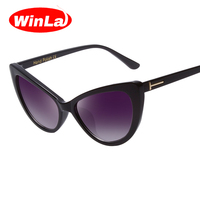 Winla Sexy Cat Eye Sunglasses Retro Vintage Sun Glasses Women Sunglasses Cat Eye Style Brand Designer
