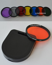 30 30mm 1Pcs Full Color Colour Green Orange Red Purple Yellow Blue Lens Filter Filters For Canon Nikon Sony Pentax Camera Lenses