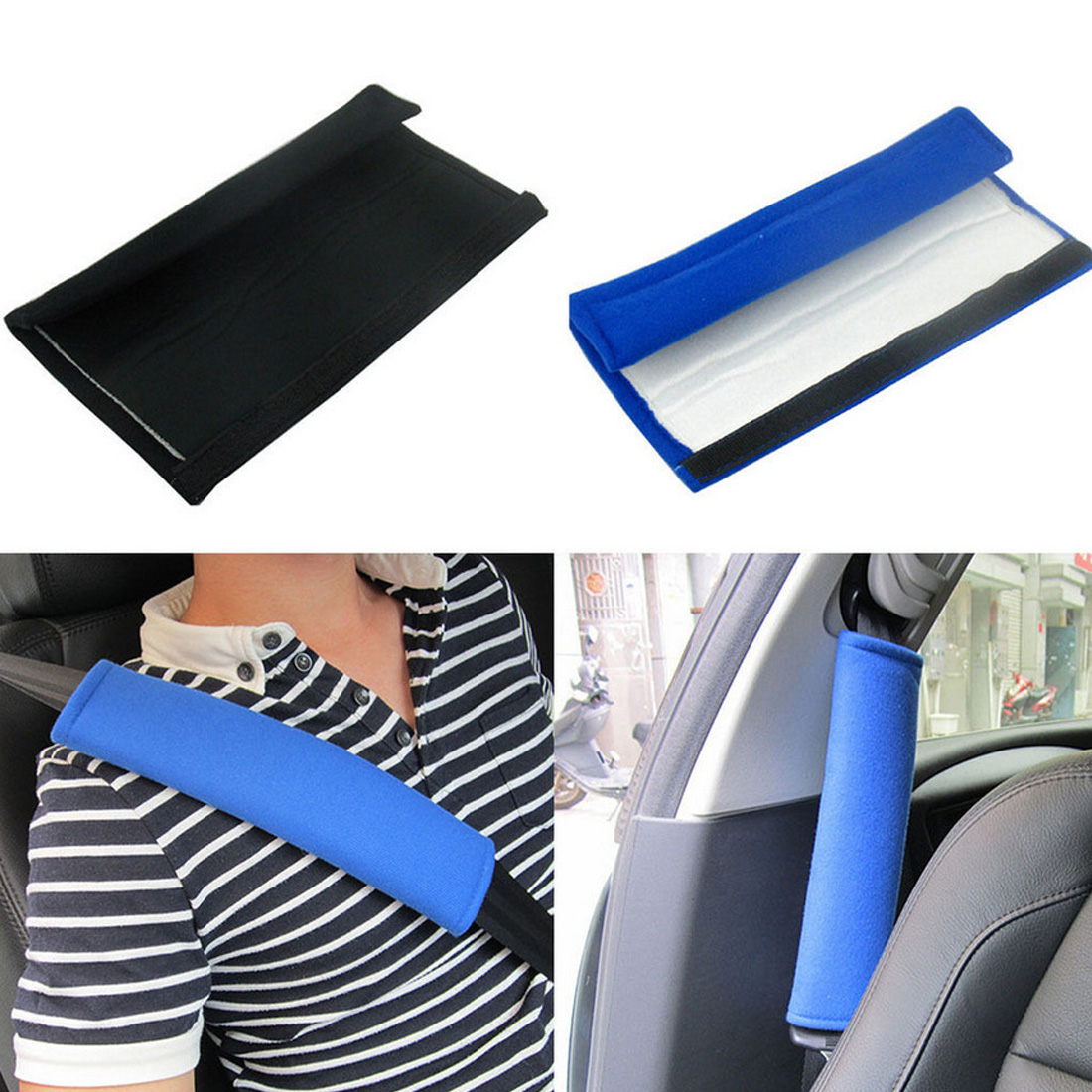 Dewtreetali high quality 1 Pair Comfortable Car Safety Seat Belt Shoulder Pads Cover Cushion Harness Pad