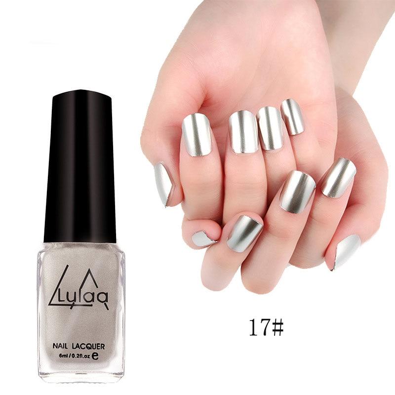 2017 New Fashion New Metallic Mirror Nail Polish Sexy Color Silver ...
