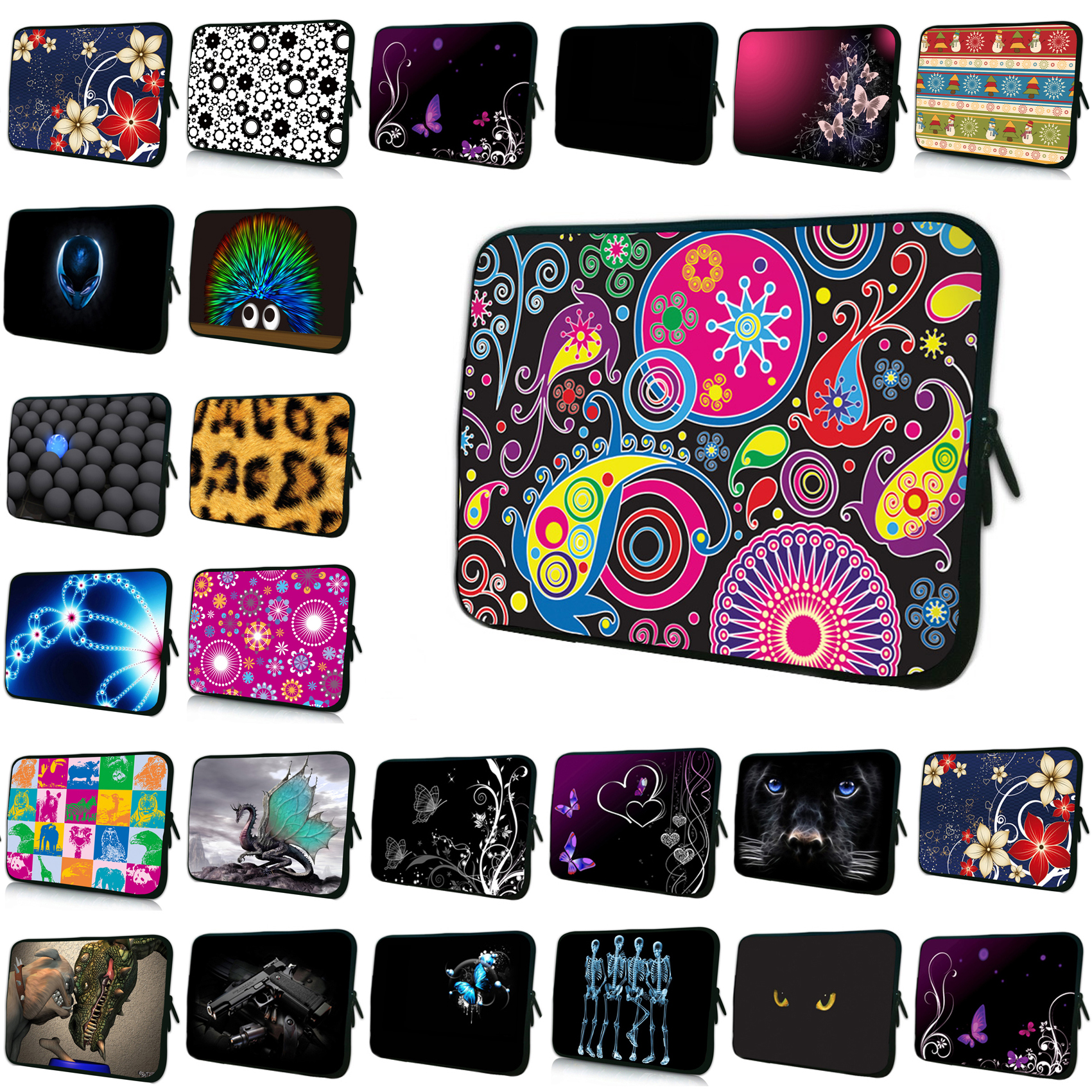 15.4 15.6 Computer Notebook Bags Cases For Women Men 7 10 12 13 14 15 16 17 inch Netbooks Shell Case Pouch Cover Bag For iPad