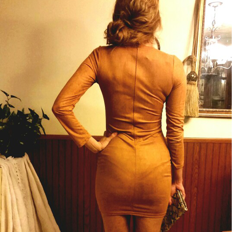 Brown Club Dress
