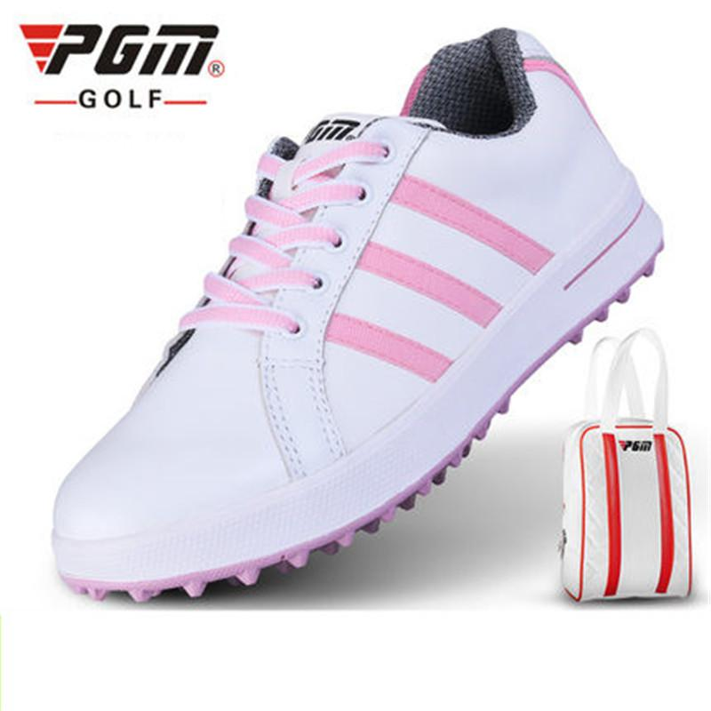 PGM Woman Golf Shoes Non-slip Wear-resistant golf sneakers Female Waterproof Breathable No nail golf shoes With shoes bags 35-39 autumn golf shoes women s breathable single shoes ultra light slip resistant waterproof shock absorption sports light golf shoes