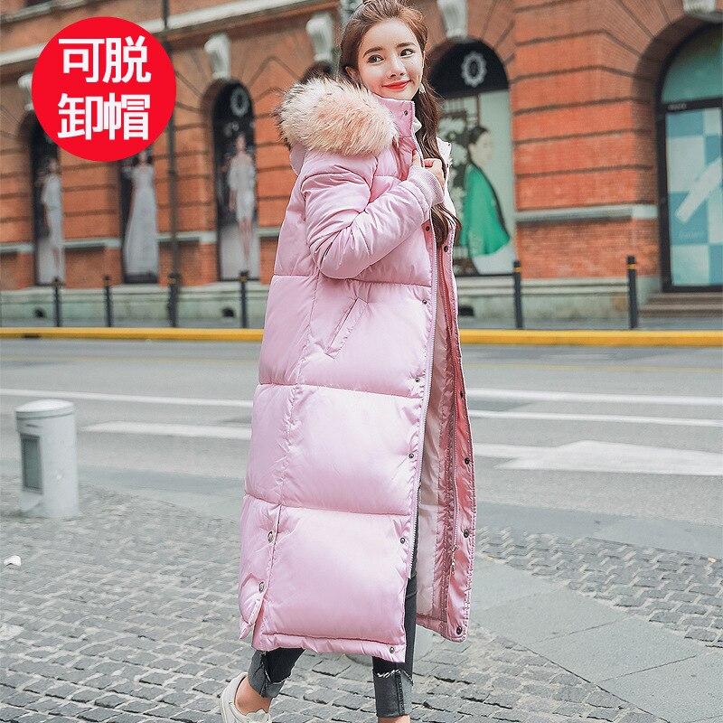 Con capucha de Cuello de piel de Invierno chaqueta abrigo largo grueso mujeres de piel elegante, Casaco Feminino Abrigos para Mujer Invierno estudiante Wadded Parkas 09