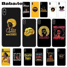 Babaite 2bunz Melanin Poppin Aba black girl волшебный мягкий силиконовый чехол для телефона для iPhone 5 5Sx 6 7 7plus 8 8Plus X XS MAX XR