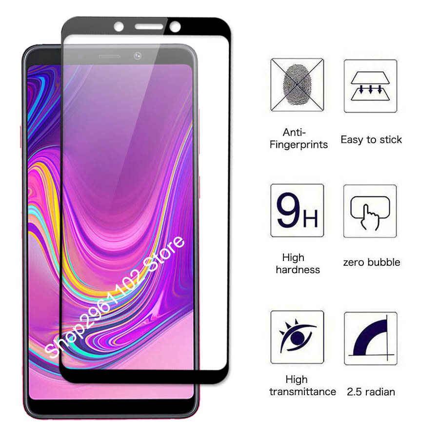 Image 3 - for samsung galaxy a 9 2018 case cover tempered glass for samsung a9 2018 protective glass on the galax a92018 a920 a920f film-in Phone Screen Protectors from Cellphones & Telecommunications