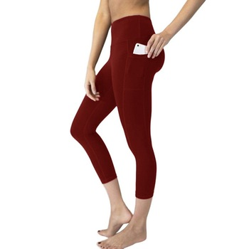 Vertvie Women Pocket Leggings High Waist Sport Leggings Push Up Sport Fitness Femme Running Fitness Yoga Pants Clothing 1