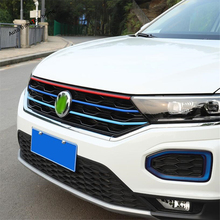 Yimaautotrims Front Grille Cover Front Grille Trim Insert Styling Cover Kit Fit For Volkswagen T-Roc T Roc 2018 2019 ABS