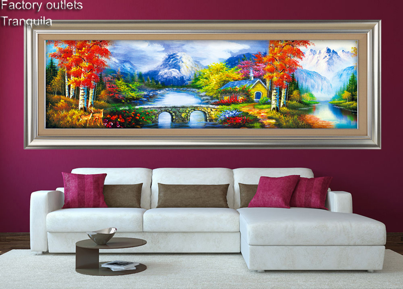 Full!!!! diamond mosaic Bucolic river space Full square diamond embroidery 5 d painting mosic picture Home Decoration CX-1407
