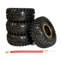 4pcs Inflatable 2 2 Inch Beadlock Tire Tyre Wheel Air Pneumatic For 1 10 RC Crawler