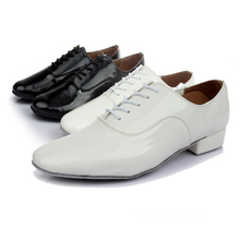 Men's/Boy's Sneakers Leatherette Performance Latin/Jazz/Salsa Dance Shoes Chunky/Flat Heel Black/White wholesale