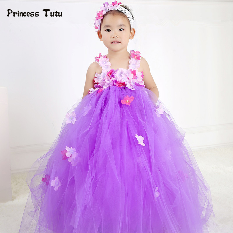 Cute Tulle Flower Fairy Princess Dress Girl Costume Pageant Birthday Party Tutu Dress Kids Flower Girl Dresses Wedding Ball Gown dc shoes кеды dc shoes evan smith hi navy gold 9