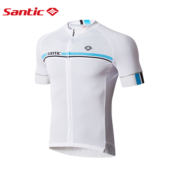 Santic Cycling Jersey Pro Team Men Summer MTB Road Bike Jersey Breathable Cozy Bicycle DH Jersey Cycling Clothing 4 Colors wosawe cycling jersey sets winter thermal sports pro jersey triatlon bike bicycle clothing jackets pants men women
