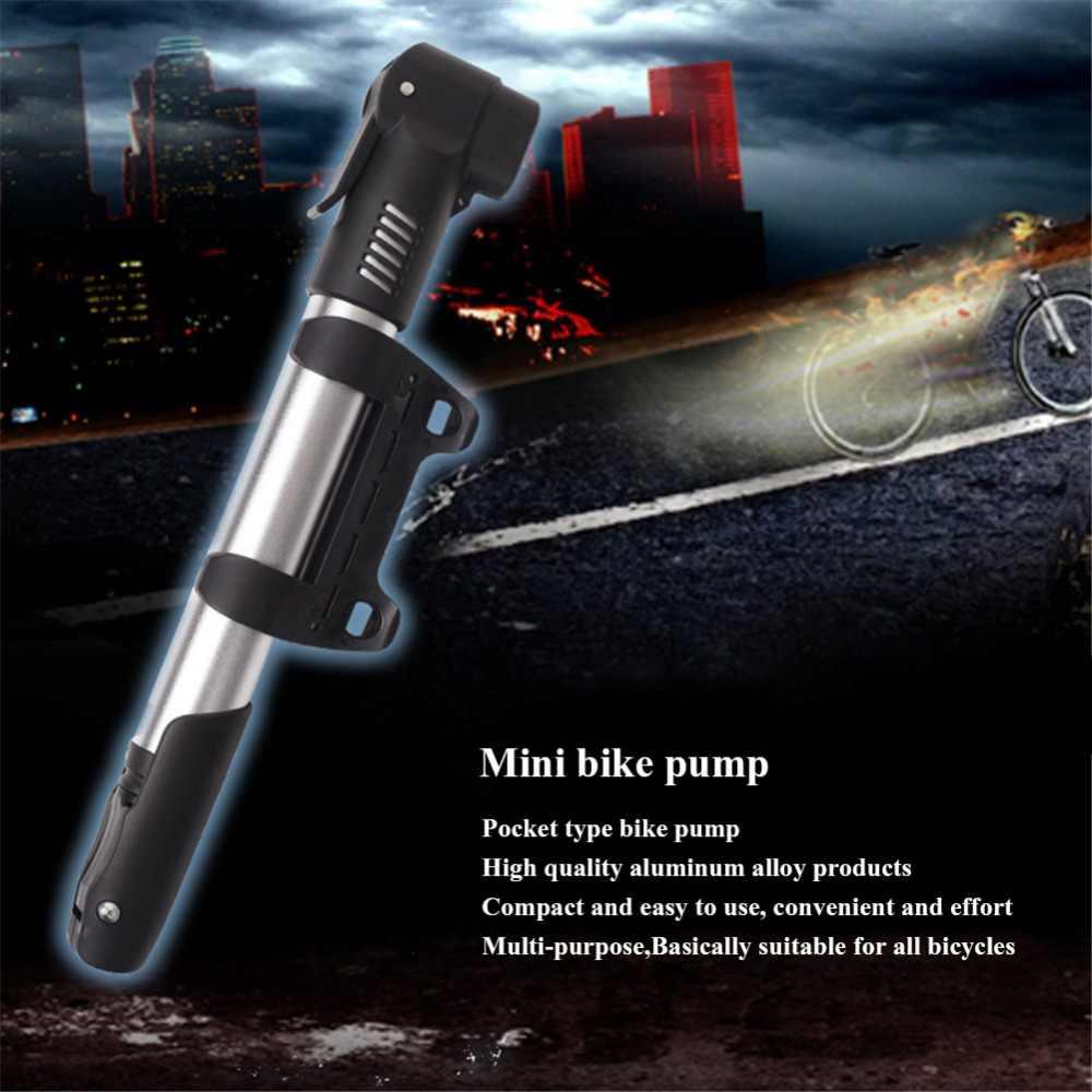 WEST Bike Mini pompe à vélo Portable gonfleur en alliage d'aluminium pompe à pneus de vélo ultra-léger 120 Psi haute pression pompes à Air de cyclisme