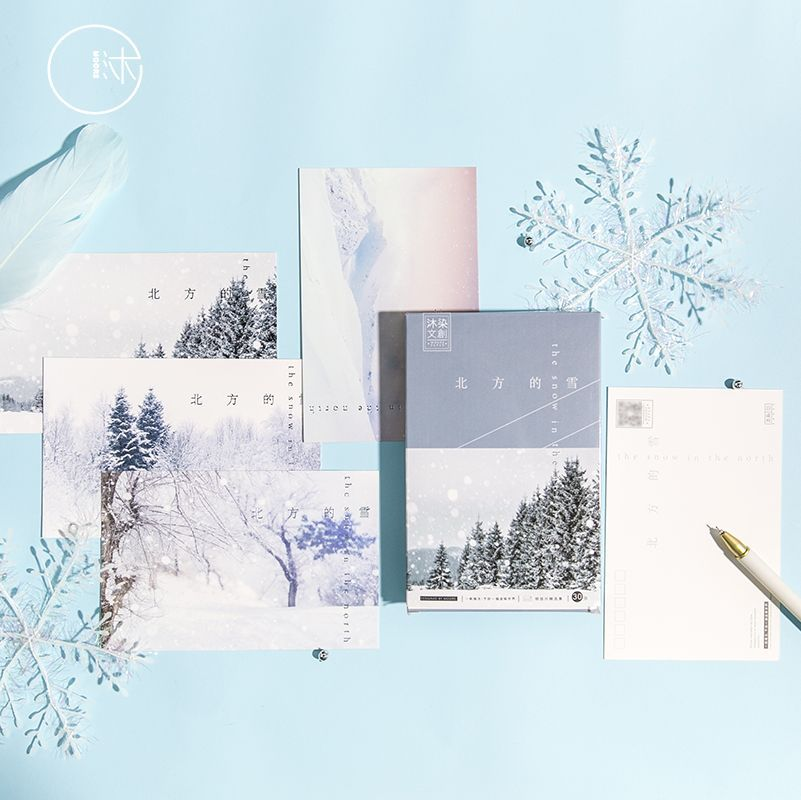 30 Sheets/Set Snow In The North Series Postcard/Greeting Card/Birthday Letter Envelope Gift Card