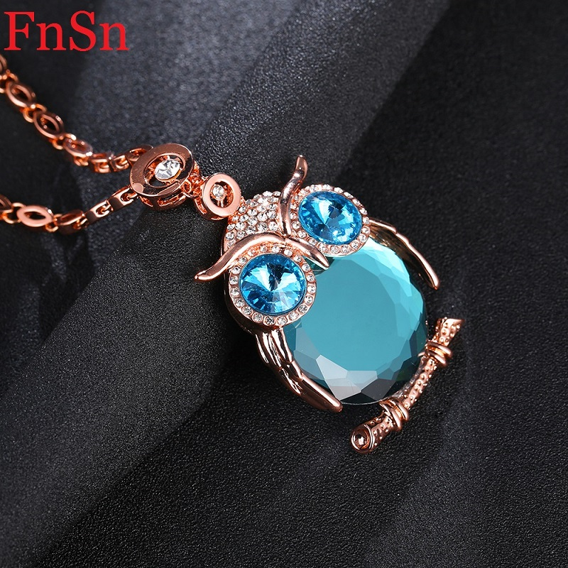 Owl Necklaces&Pendants Women Trendy Crystal Charms Chokers Collar - Fashion Jewelry - Photo 6