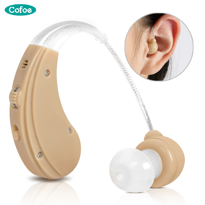 все цены на Cofoe BTE Hearing Aids Sound Amplifier Ear Care Tools Rechargeable Adjustable Hearing Aid For The Elderly/Hearing Loss Patient онлайн