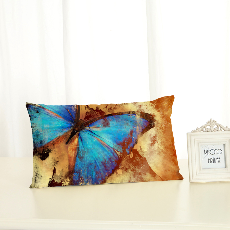New <font><b>Pillow</b></font> <font><b>Case</b></font> <font><b>30x50</b></font> <font><b>Pillow</b></font> Cover Clan Butterfly Ornamentation Cushion Cover for Sofa Home Decoration Lumbar <font><b>pillow</b></font> Pillowcase image