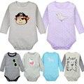 Alta calidad del nuevo verano ropa para bebés de algodón estampado de rayas de manga larga infantil boy baby girl clothing para 4-24 m