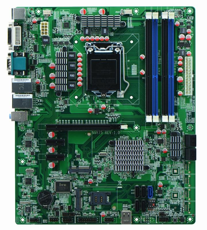 10 * Sata + 2 * Rj-45 Lan + 2 * Com + 24pin Atx Power Nvr Mmotherboards Industrie
