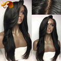 ALYSSA Brazilian Lace Front Wig With Layers 8A Straight Virgin Hair Full Lace Human Hair Wigs With Bangs Glueless Lace Wig