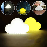 Cloud Night Light Wireless Wall Lamps LED USB Voice Sensor Lamp Novelty Children Room Decor Cute