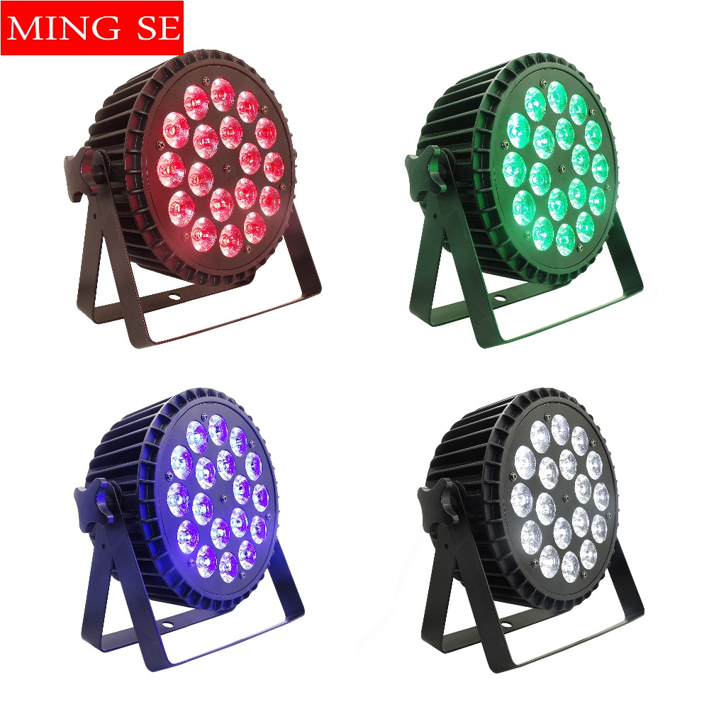 4Pcs/lots 18x18w RGBWA UV 6in1 Led Par Light 18x12w RGBW 4 In 1 Aluminum Wall Washer Disco Light Wedding Stage Lighting