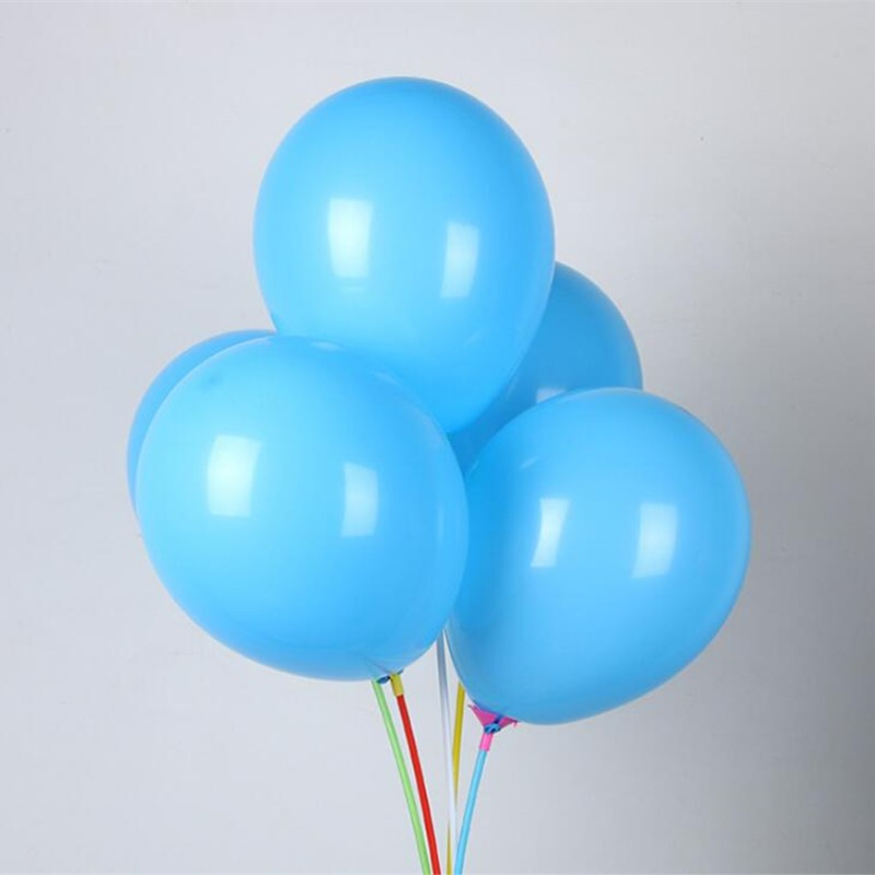 Light blue balloon 50pcs lot 10inch 2 2g helium ballons merry christmas baby happy birthday balloons wedding supplies kids toys in Ballons Accessories from Home Garden
