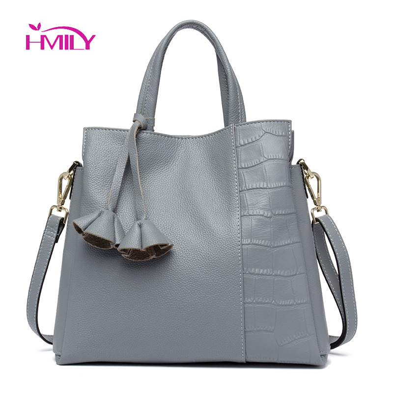 HMILY Genuine Leather Women Handbag Europe Fashion Female Messenger Bag Elegant Socialite Crossbody Bag Daily Casual Bag hmily women handbag genuine leather ladies messenger bag women bag natural cowhide daily shoulder bag socialite