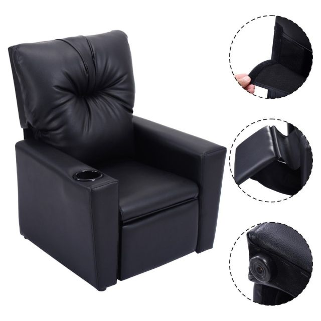 Giantex Kids Sofa Chair Modern Manual Recliner Leather