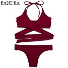 BANDEA бренд бикини сексуальные купальники купальник женщин 2017 одежда для Пляжа Купальный Костюм Бразильские Бикини Установить Майо Де Бейн Biquini