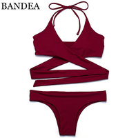 BANDEA Hot Swimwear Bandage Bikini 2017 New Sexy Beach Swimwear Bathing Suit Brazilian Bikini Set Maillot