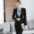 Cinza Duas Peças Senhoras Terno de Saia Formal Projetos Uniformes Escritório Mulheres de Negócios Ternos para trabalhar