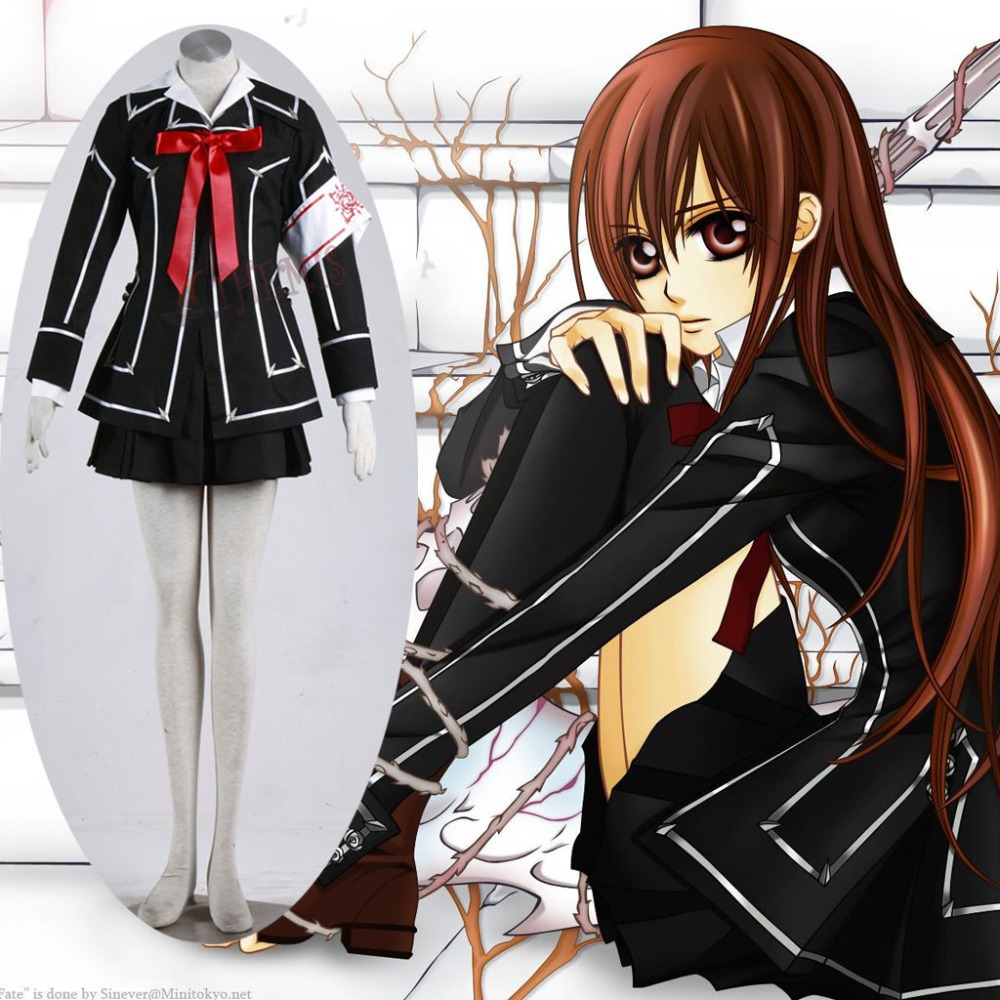 Athemis  Vampire Knight Yuki Cosplay Costumes Casual Dress Suit female L size outfit